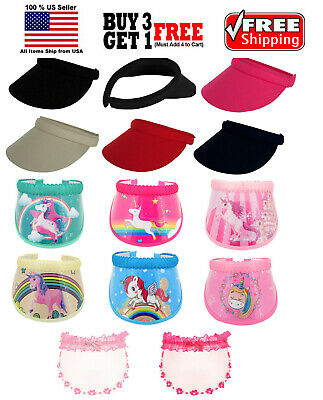 Kids Boys Girls Fashion Clip On Visor Wide Brim Sun UV Protection Cap Cover Hat Boys