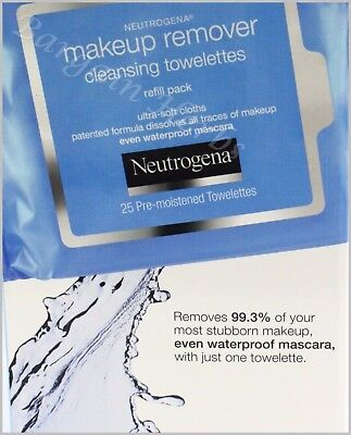 Neutrogena Makeup Remover Facial Towelettes Wipes New Free Shipping