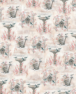 FABRIC Quilting Treasures ~ WINTER GARDEN ~ Sarah Summers (26239 E) by 1/2 yard for sale  Shipping to India