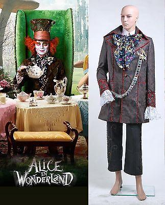 Alice in Wonderland Johnny Depp Mad Hatter Costume Halloween cosplay Carnival - Johnny Depp Halloween Costume