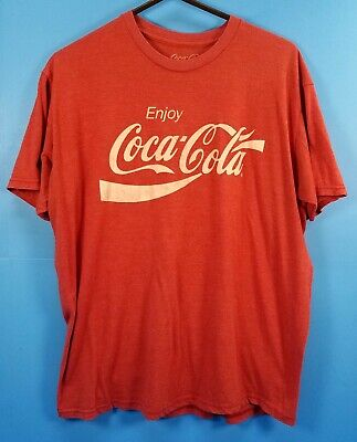 Vintage Coca-Cola Heather Red  T Shirt (Size M )