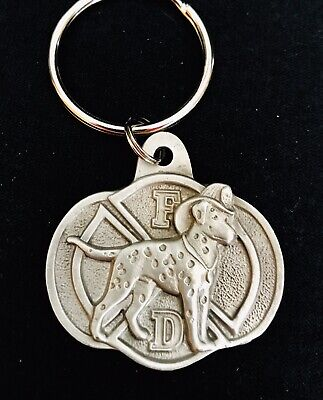 Pewter Silver Dalmatian Firefighter Fire Department Dog Puppy Keychain](Dalmatian Fire Dog)