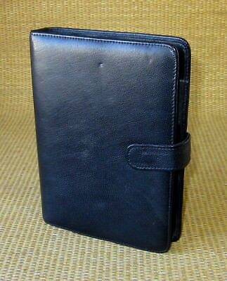 Portablepersonal 1 Rings Brown Leather Perry-ellis Style Open Plannerbinder