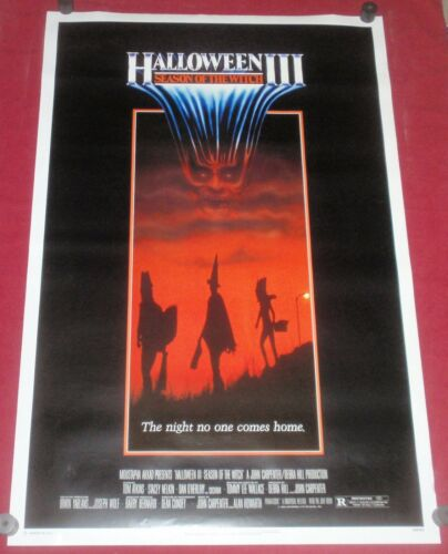 Halloween III: Season of the Witch Movie Poster 27x41 S/S  Tom Atkins  S. Nelkin