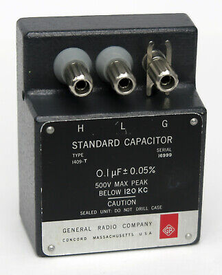 Gr General Radio 1409t 0.1 Mfd - 0.05 Standard Capacitor 1409-t