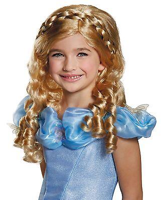 Cinderella Movie Wig for Girls - Blonde Child Wig - Cinderella Child Wig - Blonde Wigs For Kids