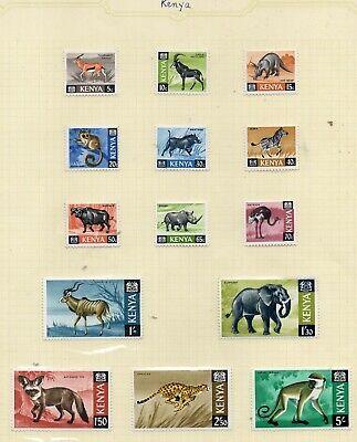 KENYA STAMPS  1966 ANIMALS SERIES TO 5/- MOUNTED MINT