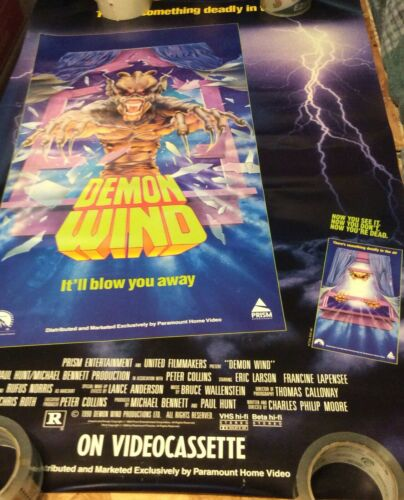 Demon wind  promo poster excellent see pics for any damage
