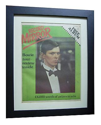 DAVID BOWIE+ORIGINAL 1978 VINTAGE RECORD MIRROR+QUALITY FRAMED+FAST GLOBAL SHIP