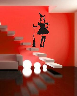 WANDTATTOO ++ HEXE ++ Halloween ++ Größenwahl ++ Farbwahl ++ (Halloween Wand)