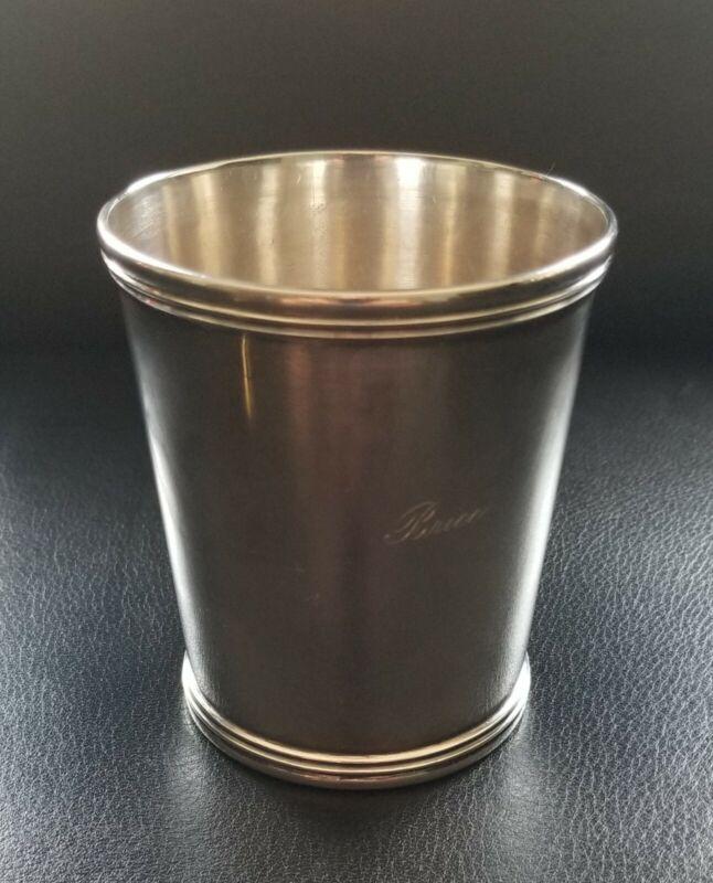 Antique Coin Silver Julep Cup E&D Kinsey
