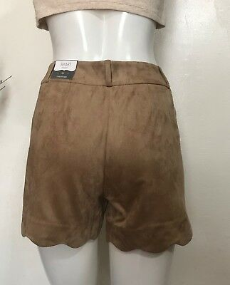 maurices Women's Smart Shorts Taupe Faux Suede, Size # 15/16 (38 inch) w/ Pocket