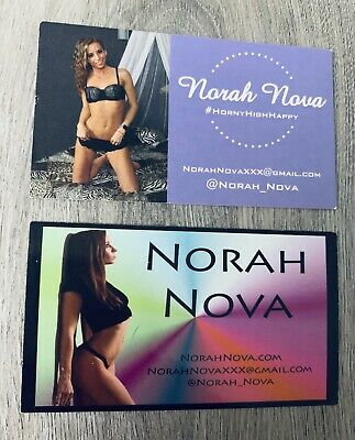 (2) NORA NOVA ADULT ACTRESS PORN STAR THC XSTREAM PERSONAL BUSINESS CARDS - RARE