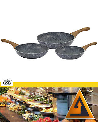 Pfanne Induktion Pfannenset Bratpfanne Aluguss Set Granit kratzfest 20 24 28 cm (20 Cm Bratpfanne)