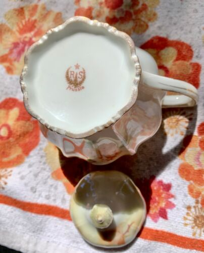 💥 ANTIQUE AUTHENTIC REINHOLD SCHLEGELMILCH RS PRUSSIA STUNNING TEAPOT ROSES 💥