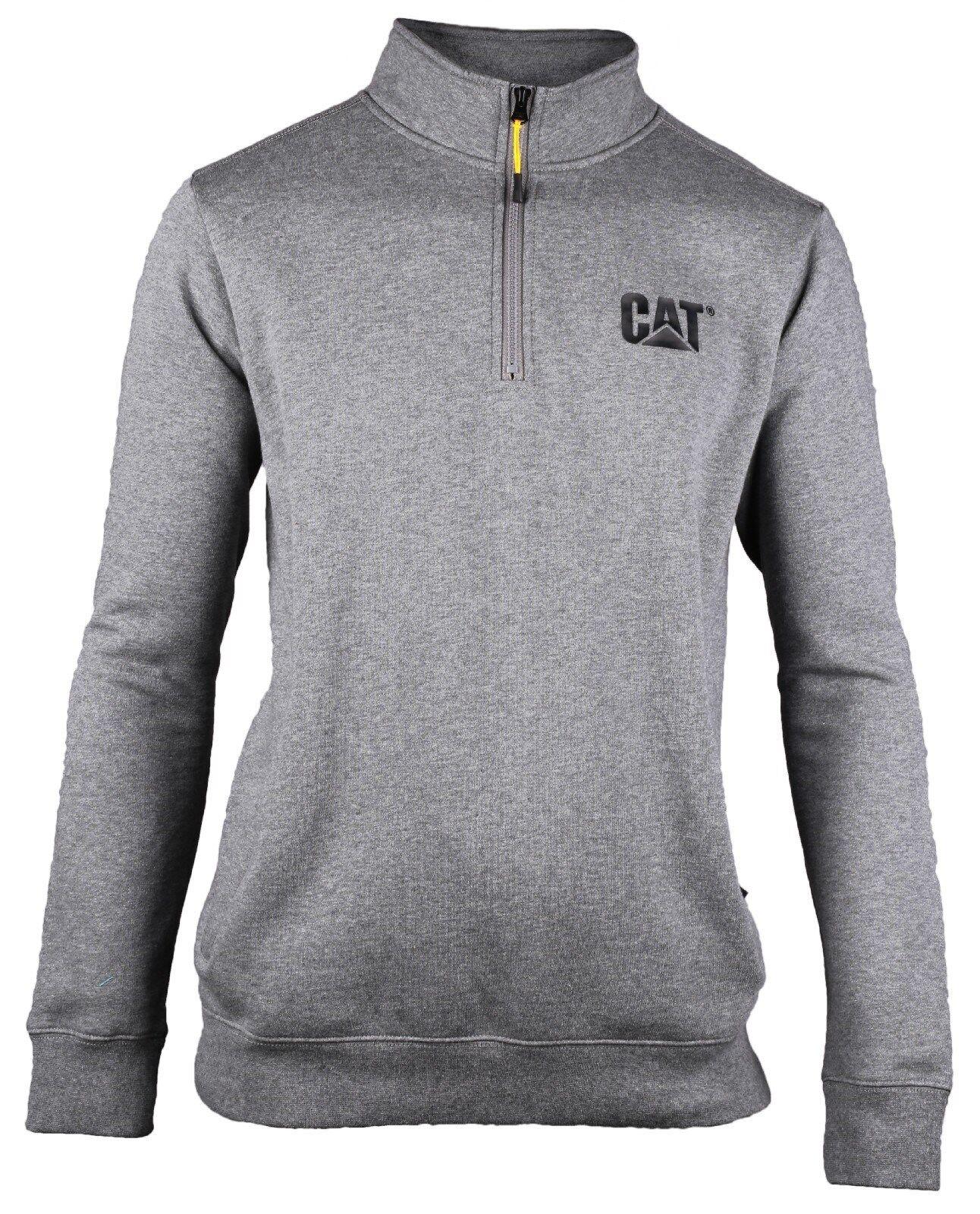 CAT Caterpillar Kapuzenpullover warm schwarz m Handytasche großes Logo