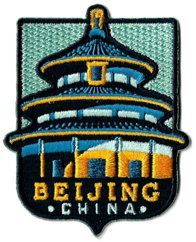 Beijing China - City Travel Patch Symbol Badge Emblem Insignia Logo