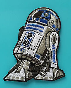 ecusson patch brode thermocollant star wars r2d2 taille