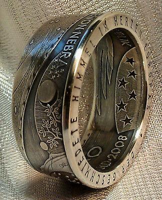 Münzring Coinring 10 € * Himmelsscheibe von Nebra* Silber 925er Größe 54-74