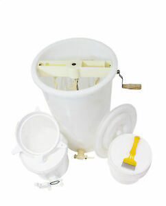 Honey Processing Kit - Plastic Extractor, strainer, buckets, uncapping fork