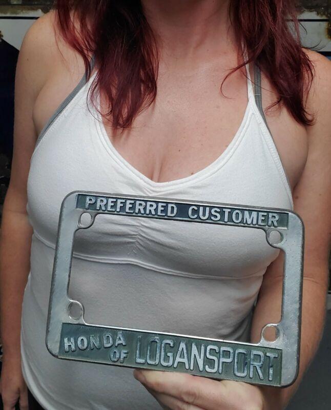 Vintage Motorcycle License Plate Frame Preferred Customer Honda of Logan