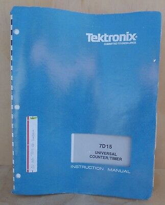 Tektronix 7d15 Universal Counter Timer Instruction Manual