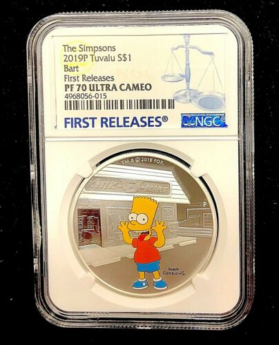 2019 The Simpsons BART Simpson Proof $1 1oz Silver COIN NGC PF 70 FR PF70