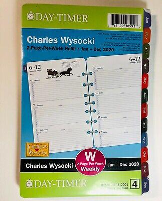 2020 Day-timer Charles Wysocki 2-page-per-week 8.5 X 5.5 Refill 4 Weekly