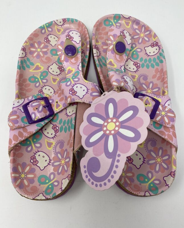 NWT Rare 2008 Sanrio Hello Kitty Pink Sandals Adult Small 4.5 - 6