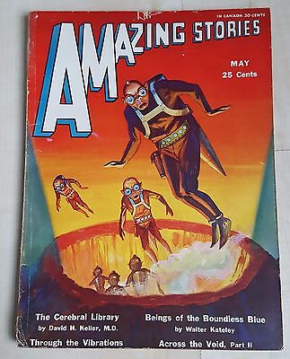 Amazing Stories vintage pulp fiction comic May 1931 vol 6 no 2