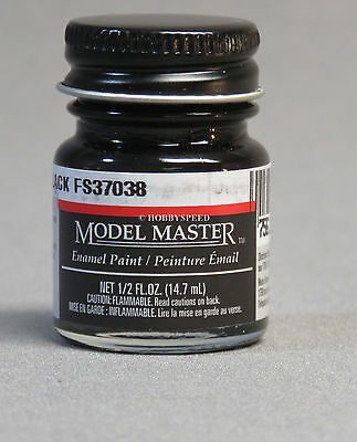 TESTORS PAINT MODEL MASTER FLAT BLACK ENAMEL 1/2oz 14.7ml  NEW 1749