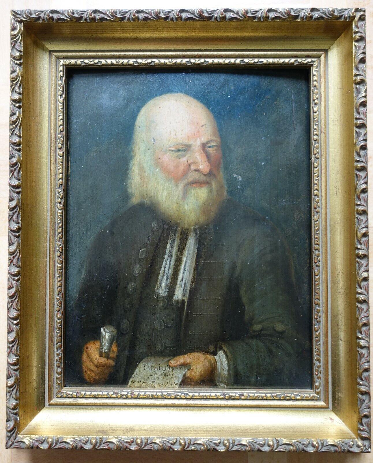 "GEMÄLDE ÖL auf Holz: ""CHRISTIAN JACOB LERCHENBERG 1626"" PAINTING Oil on panel."