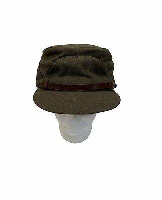 1950s Mens Hats | 50s Vintage Men's Hats 1950s Buffalo Cap Co. LTD. Green Civil War Style Cap Winnipeg Canada Size 7 1/2 $49.99 AT vintagedancer.com