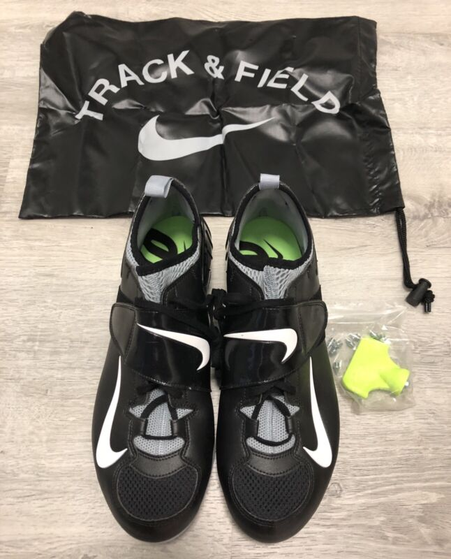 NEW Nike Zoom PV Pole Vault Track & Field Black Spikes shoes Men's size 11.5