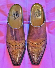 CHARLIE HORSE LUCCHESE HAND MADE BRAZIL LEATHER MULES SHOES 7B Macedon Macedon Ranges Preview