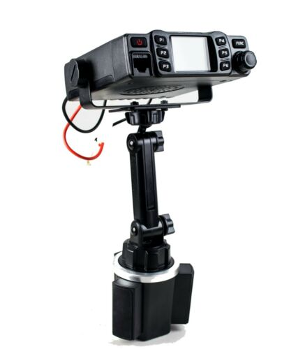 New Cup Holder Mount With Variable Height With Mic Holder For Anytone AT-778UV