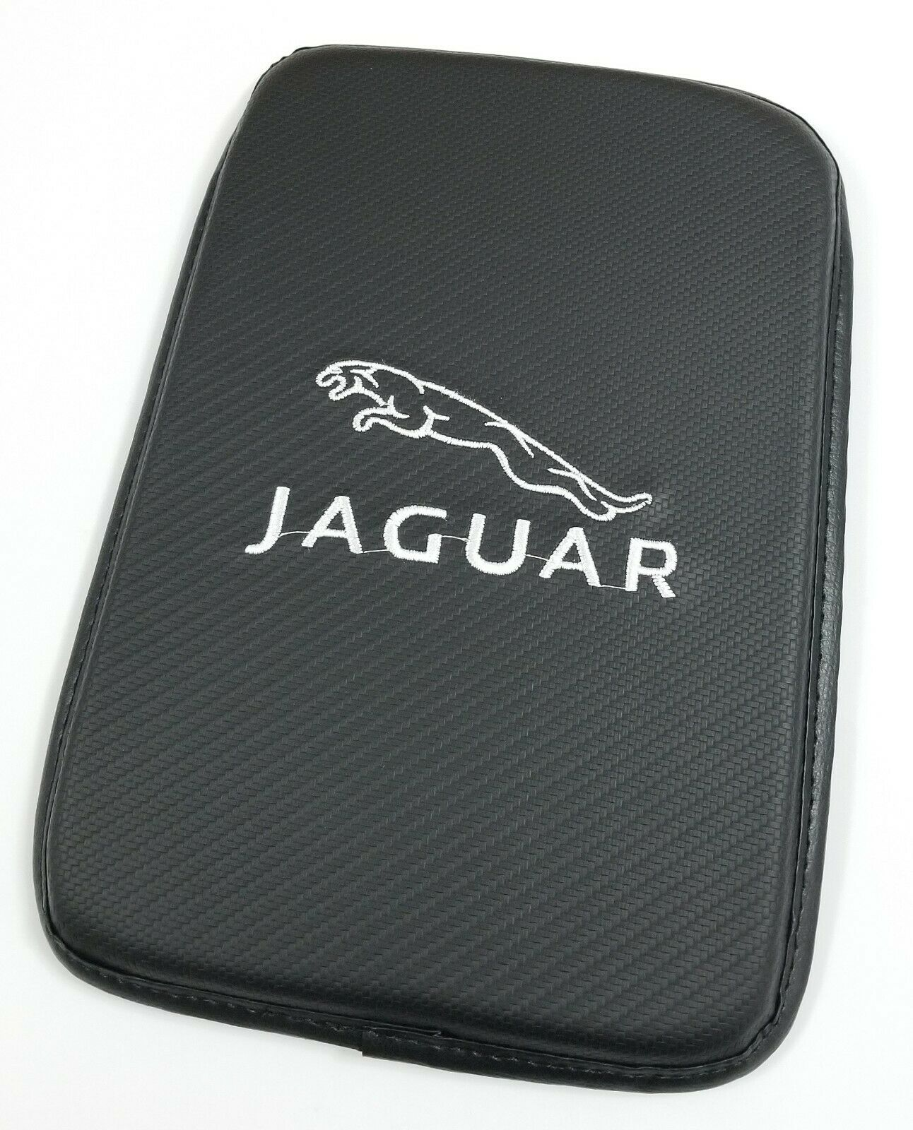 Car Parts - BRAND NEW JAGUAR Carbon Fiber Car Center Console Armrest Cushion Mat Pad Cover