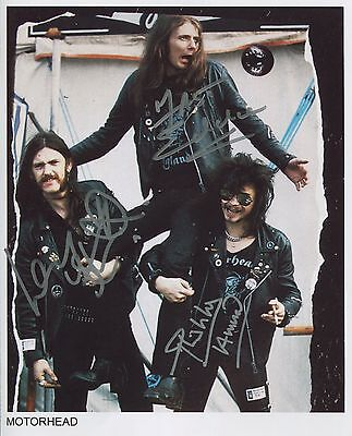 Motorhead 1978 Band SIGNED Photo 1st Generation PRINT Ltd No'd + Certificate / 2