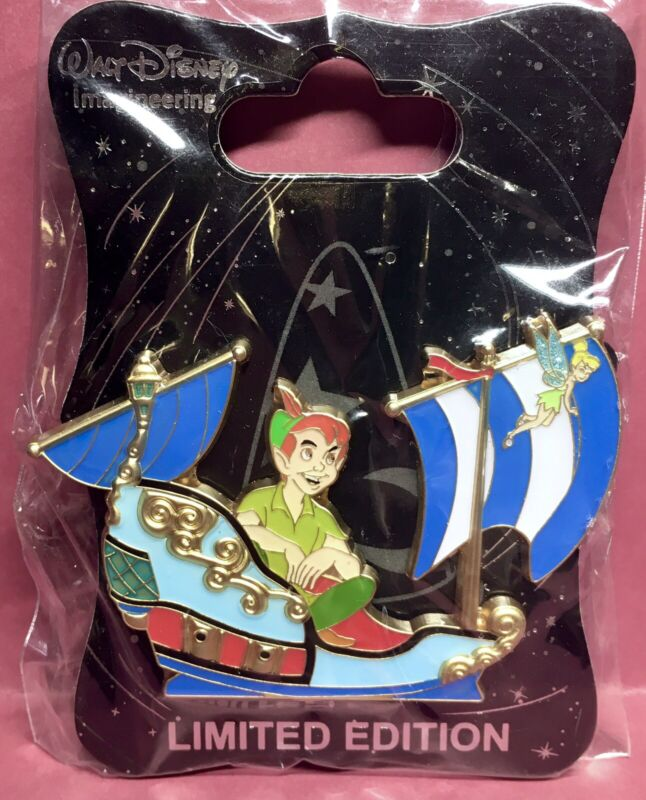 WDI Peter Pan Tinkerbell Peter Pans Flight Ride Vehicle Pin LE 300