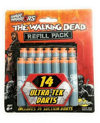 AIR WARRIORS THE WALKING DEAD 14 X FOAM DARTS REFILL PACK (fits other brands)