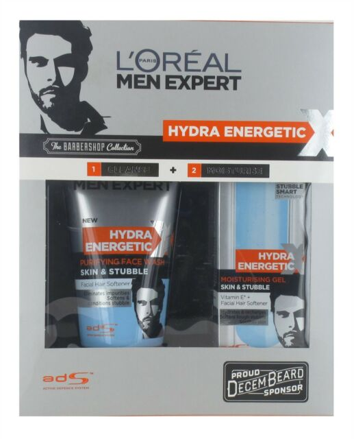 L'Oreal Men Expert Barber Shop Set - 150ml Face Wash and 50ml Moisturiser
