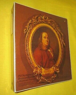 Vintage 1970s Benjamin Franklin Joseph Duplessis Portrait 3 Ring Binder 1975