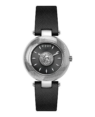 Versus by Versace VSP213718 Bricklane black Leather Women's Watch