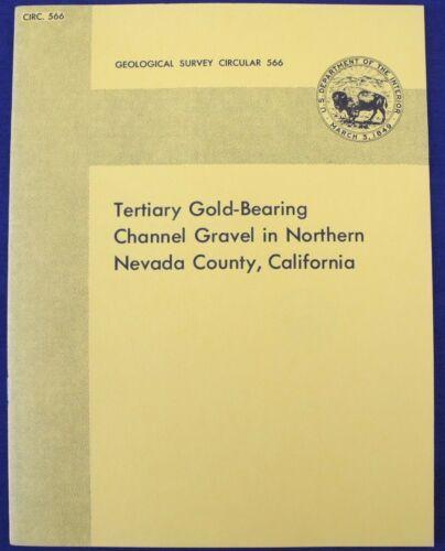 USGS GOLD PLACER GOLD DEPOSIT NORTHERN CALIFORNIA BOOK! Vintage 1968 Report