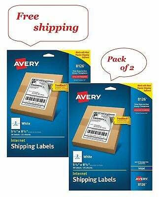 Avery Inkjet Perforated Shipping Labels