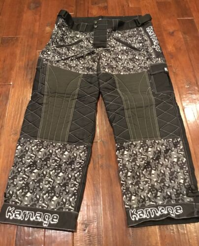 Karnage 2XL Paintball Pants Black White Camo Style