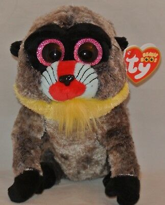 """New! 2018 Ty Beanie Boos WASABI the Baboon 6"""" size IN HAND"""