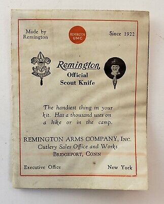 Vintage Remington Boy Scout Knife Brochure