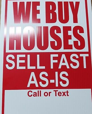 4- We Buy Houses Fast Cash Bandit Signs Your Phone Number Real Estate Marketing