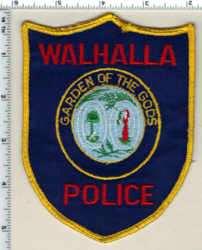 Walhalla Police (South Carolina) 2nd Issue Uniform Take-Off Shoulder Patch